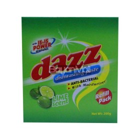 Dazz Dishwashing Pack Lime Scent 200g