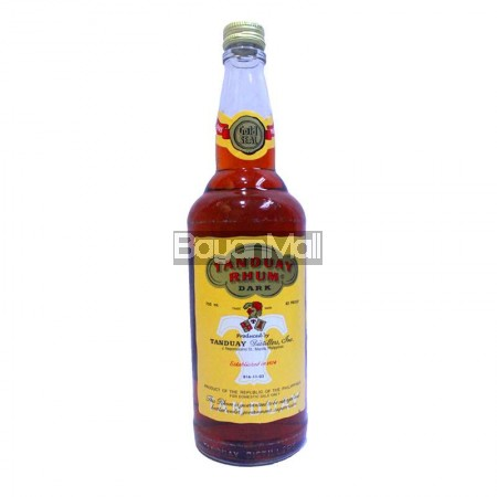 Tanduay Rhum Dark  80 Proof 750ml
