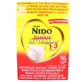 Nestle Nido Jr. Milk Supplement 1-3 700g - In a box