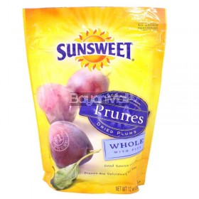 Sunsweet Prunes Dried Plums Whole with Pits 340g