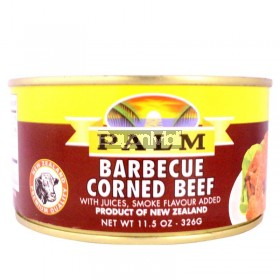 Palm Barbecue Corned Beef with Juices Smoke Flavour 326g
