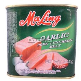 Maling Garlic Pork Luncheon Meat 340g