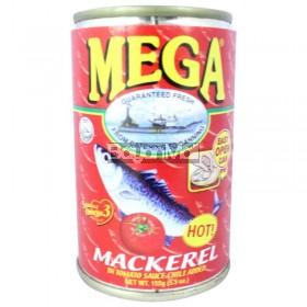 Mega Mackerel Sardines in Tomato Sauce ( Hot) Chili Added Hot 155g