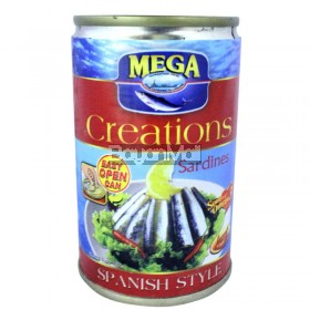 Mega Creations Sardines Spanish Hot Style (Easy Open Can) 155g