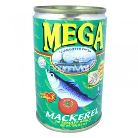 Mega Mackerel Sardines in Tomato Sauce (Easy Open Can) 155g