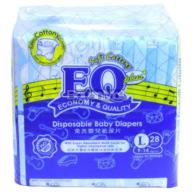 EQ Disposable Baby Diaper Large 28's (9-14kg)