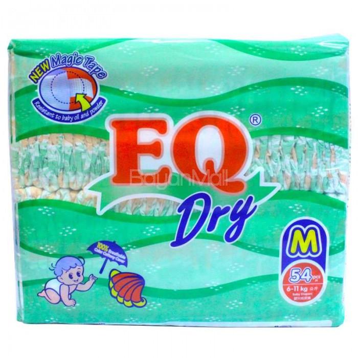 EQ Dry Disposable Baby Diapers Medium 54pcs (60-11kg)
