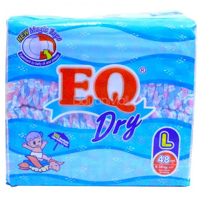 Eq Dry Disposable Baby Diapers Large 48pcs 9 14kg