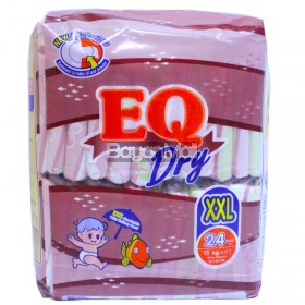 EQ Dry Disposable Baby Diapers XXL 24pcs. (15kg)