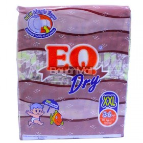 EQ Dry Disposable Baby Diapers XXL 36pcs. (15kg)