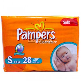 Pampers Comfort Disposable Baby Diapers  Small 28pcs. (3-6kg)