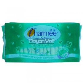 Charmee Pantyliners Breathable Deodorizing Green Tea 20pcs.