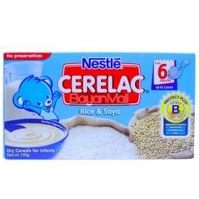 Nestle Cerelac Rice & Soya 120g