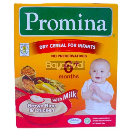 Promina Dry Cereal Brown Rice & Chicken with Milk 120g