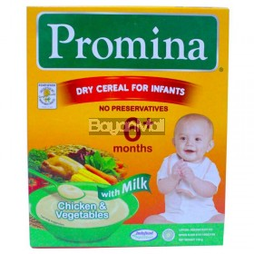 Promina Dry Cereal Chicken & Vegetable with milk 120g
