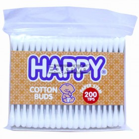 Happy Cotton Buds Paper Stem 200 Tips