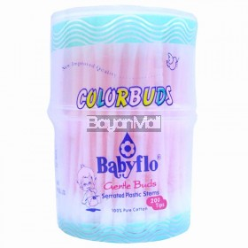 Babyflo Colorbuds Gentle Buds Serrated Plastic Stems 100g