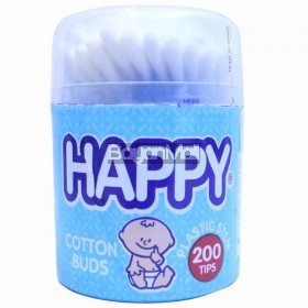 Happy Cotton Buds Plastic Stem 200 Tips