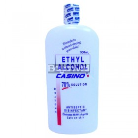 Casino Ethyl Alcohol 70% Solution Antiseptic Disinfectant 500 ml (Regular)