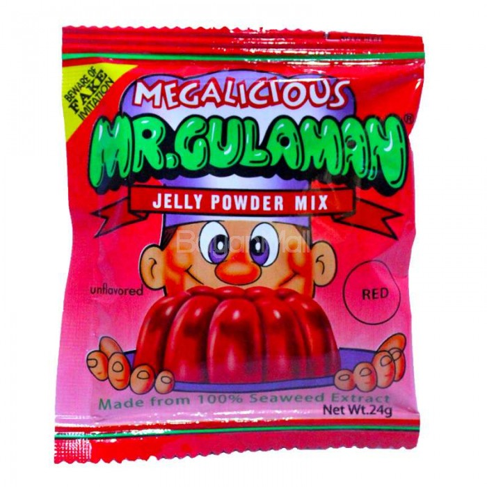 Megalicious Mr Gulaman Jelly Powder Mix Unflavored Red 24g