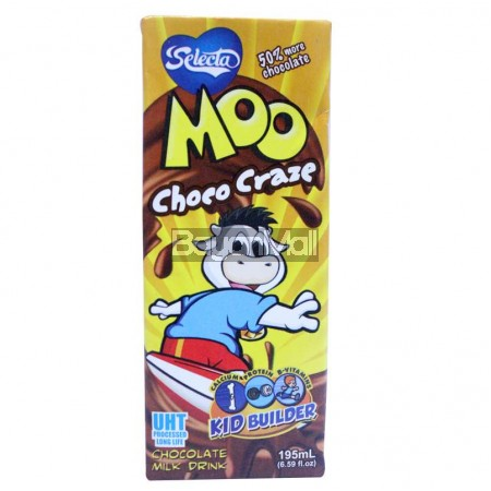 Selecta Moo Choco Craze (Milk Drink) 195mL