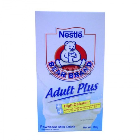 Nestle Bear Brand Adult Plus Powdered Milk Drink 180g
