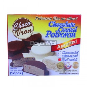 Choco Vron Chocolate Coated Polvoron Assorted (2in1 Coated) 12pcs. 240g