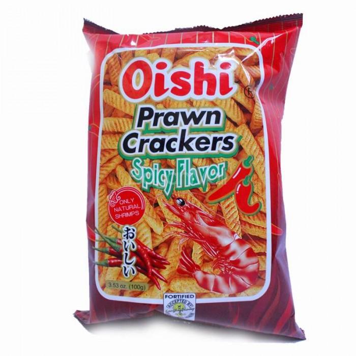 Oishi Prawn Crackers Spicy Flavor 100g
