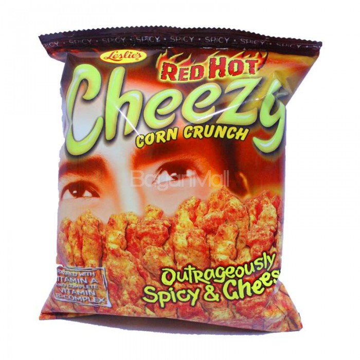 Leslie S Red Hot Cheezy Corn Crunch 70g