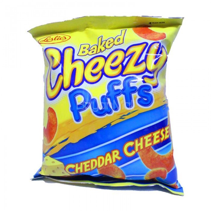 Leslie's Baked Cheezy Puffs Cheddar Cheese 55g