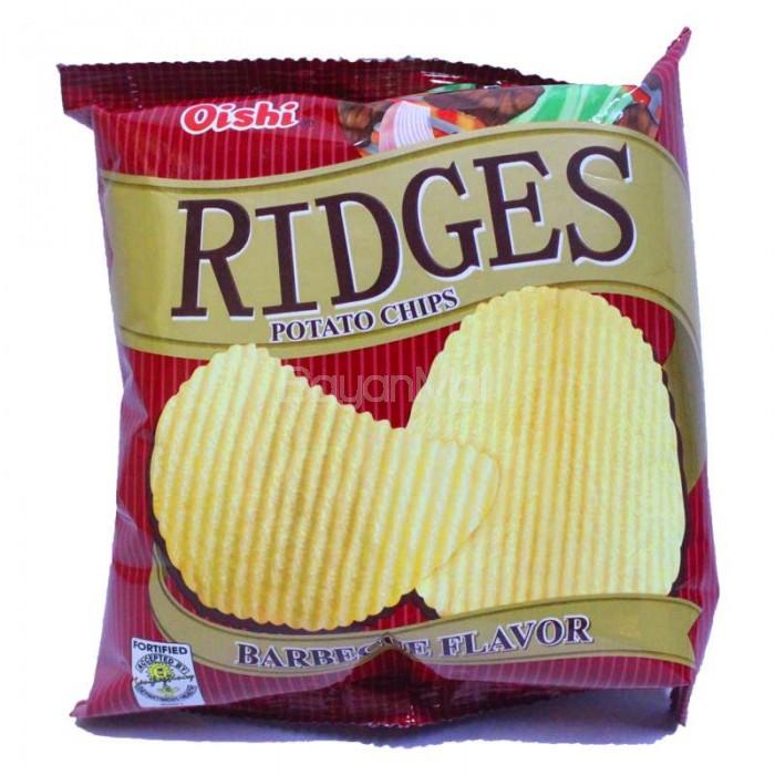 Oishi Ridges Potato Chips Barbecue 22g