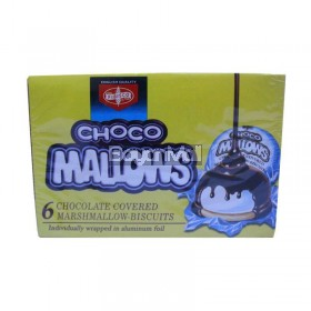 Fibisco Choco Mallows 6 Chocolate Covered Marshmallow Biscuit 100g