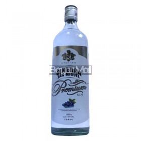 Ginebra San Miguel Premium Gin 35%vol. 750ml in a bottle