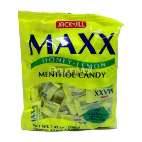 Jack 'N Jill Maxx Honey-Lemon Menthol Candy 200g