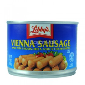 Libby's Vienna Sausage made with chicken, beef, and pork in chicken 240g