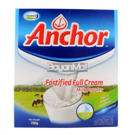 Anchor Fortified Full Cream Milk Powder 700g - In a box