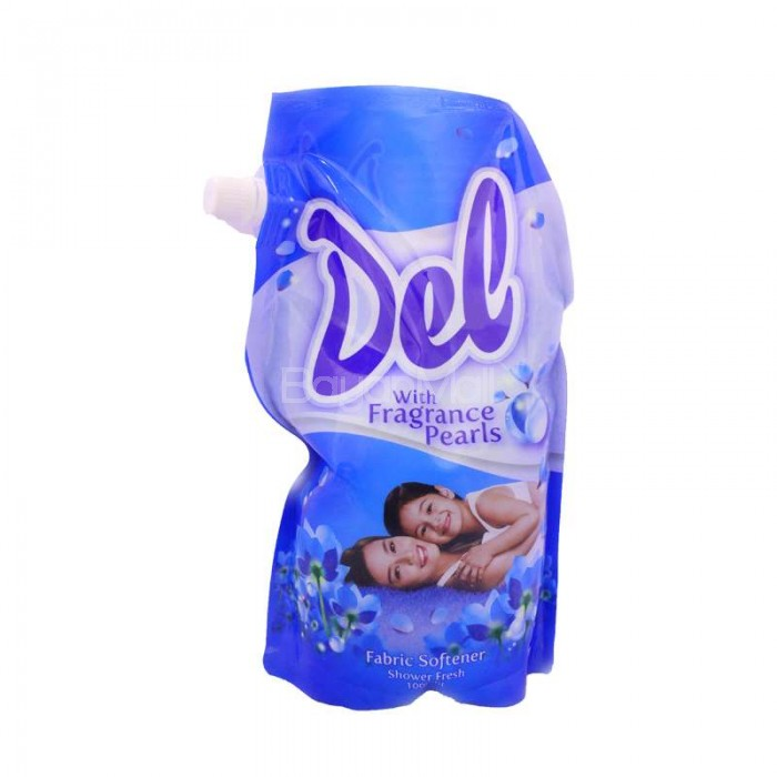 Del Fabric Softener With Fragrance Pearls Shower Fresh Blue 1l