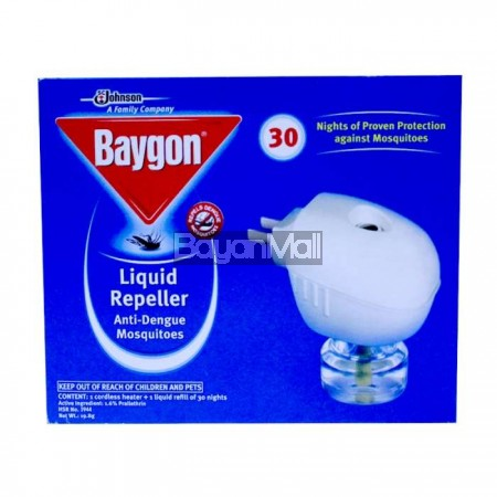 Baygon liquid mosquito repeller for Mosquito donuts