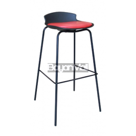 7-87a Black And Red Bar Chair