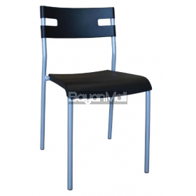 8012 Black Pp Chair and Powder Coated Legs