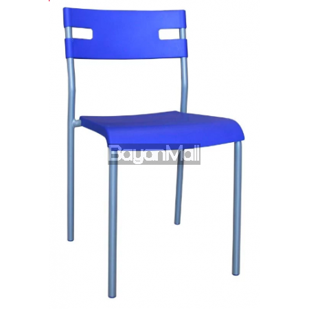 8012 Blue Pp Chair and Powder Coated Legs