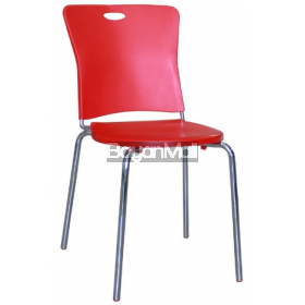 8032 Red Pp Chair and Chromed Legs
