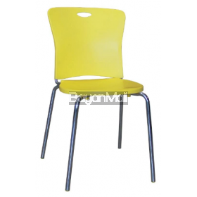 8032 Yellow Pp Chair and Chromed Legs