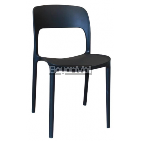 8077 Black Whole Pp Plastic Chair