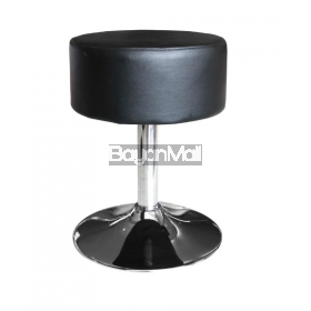 B852 Black Swivel Ottoman