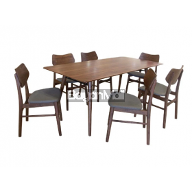 MIT-8028+MIT469 6 SEATER DINING SET