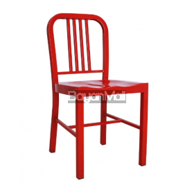 T-5829 Red Metal Dining Chair