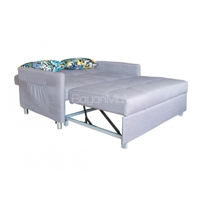 3021 grey pull out sofa bed for Mattress for pull out sofa bed