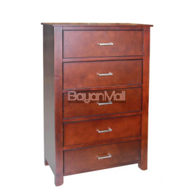 52299-Ch Walnut Ansel 5 Chest Of Drawer