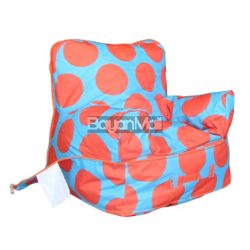 6109 Orange Dot Bean Bag